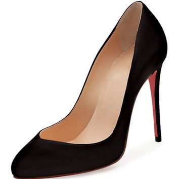 Christian Louboutin Breche Leather 100mm Red Sole Pump