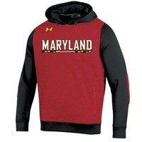 Men's Maryland Terrapins Under Armour Red Win It Charged Cotton Storm Hoodie