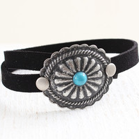 Oval Etched Wrap Bracelet
