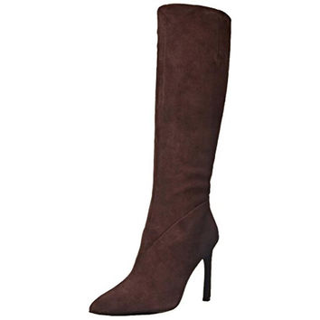 Nine West Womens Safrom Suede Almond Toe Knee-High Boots
