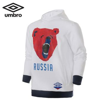 Umbro 2018 New Spring Male Football Long Sleeve Hooded Cotton Pullover  Sport Hoodie Men  Sport Jacket UI181AP2473
