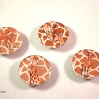 Giraffe Kitchen Magnets, Fridge Magnets, Refrigerator Magnets