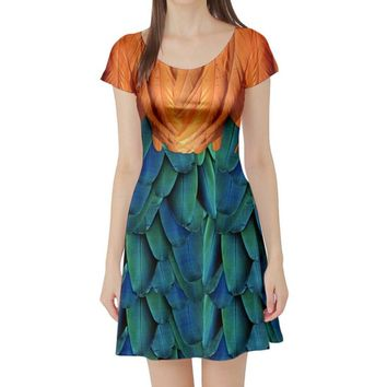 Heihei Moana Inspired Short Sleeve Skater Dress