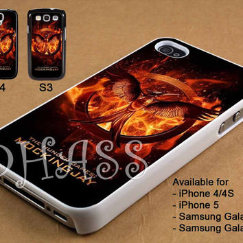 The Hunger Games Mockingjay Design for iPhone 4/4s/5 Case, Samsung Galaxy S3/S4 Case