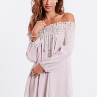 Heartbreaker Off-Shoulder Dress