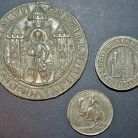 Set of Old Town Seals (Bratislava, Prague) with 10 ducat coin of Maria Theresa
