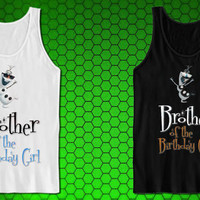 Disney Iron On Transfer, Brother Of The Birthday Girl Olaf FROZEN tank top for tank top mens and tank top girls