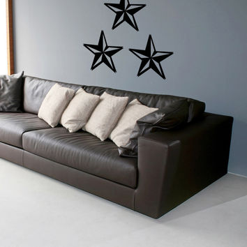 Vinyl Wall Decal Sticker Nautical Stars #1095