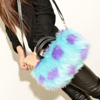 1pc Fashion Ladies Faux Fur Clutch Handbag Tote Purse Wallet Shoulder Bag +Strap