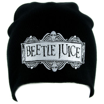 Beetlejuice Beanie Knit Cap Dark Alternative Gothic Clothing Betelgeuse Lydia Deetz