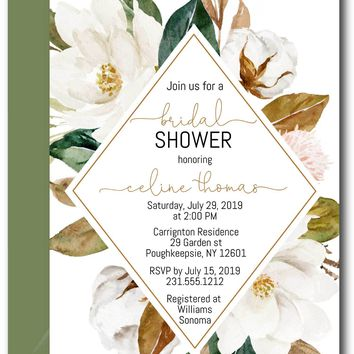 Magnolia Bridal Shower Invitations