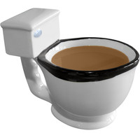 Evelots The Toilet Mug, Coffee, Tea, Beverages Cup, Humorous Gifts, 10 oz