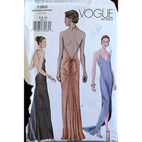 Misses Evening Dress Vogue 7365 Sewing Pattern Size 6 8 10 Formal Gown c1547