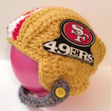 San Francisco 49ers Footfall Helmet for 3-6 Month old - Handmade