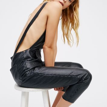 Free People Lilah Leather One Piece