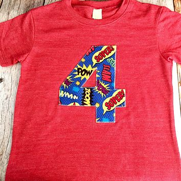Super Hero Pow Bang On Royal Blue Red Yellow Primary Colors Any