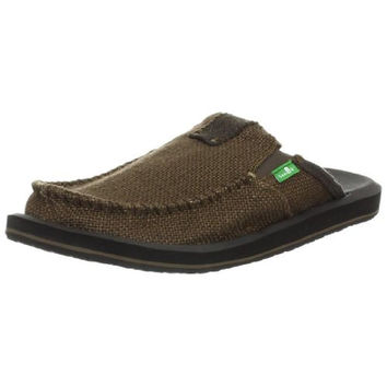 Sanuk Mens You Got My Back II Woven Stretch Clogs