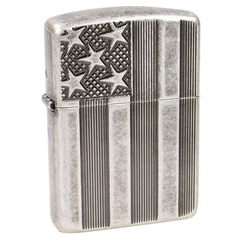 US FLAG Armor Heavy Zippo Outdoor Indoor Windproof Lighter Free Custom Personalized Engraved Message Permanent Lifetime Engraving on Backside