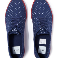 Navy Polka Dot Sutter Shoe