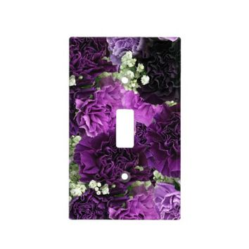 Bouquet Purple Carnations Switch Plate Covers