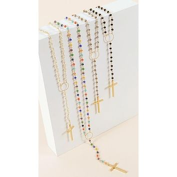 Extra Long Y Shape Rosary with Glass Beads