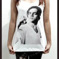 Leonardo Dicaprio White Shirt Movie Women Sleeveless Tank Top Tanktop Tshirt T Shirt