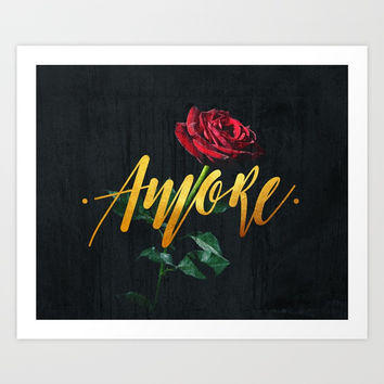 Amore Art Print by lostanaw