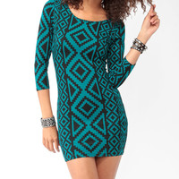 Southwest Print Mini Dress