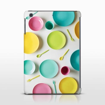 Colorful Dishes Tablet Cover, Kitchen Decor, Restaurant Art, Food Tablet Case, Ipad Mini, Galaxy Note Cases