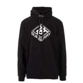 """Burberry"" Unisex Casual Fashion Letter Pattern Embroidery Long Sleeve Hooded Sweater Hoodie Tops"