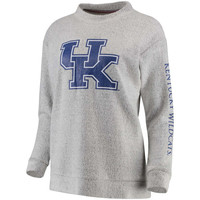 Women's Pressbox Ash Kentucky Wildcats Blume Comfy Terry Sweatshirt