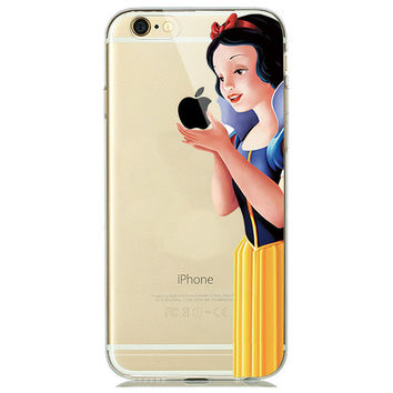 Snow White Apple Soft Phone Case For iPhone 7 6 6s 5 5s SE