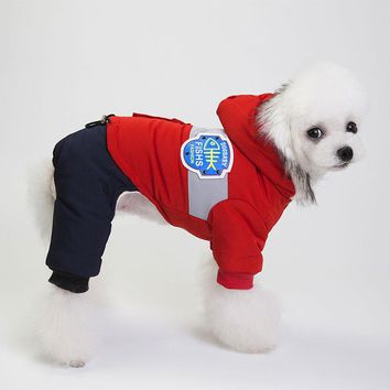Pet Cat Fleece Coat Warm Jacket with Hooded Waterproof & Windproof Puppy Small Dog & Cat Winter Warm Clothes in Cold Weather