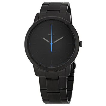 Fossil Mens FS5308 The Minimalist Black Satin Dial Watch