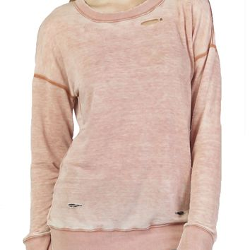 Dear John Reed Burnout Terracotta Pullover