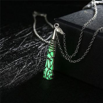 Luminous Crystal Glow Necklace