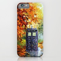 starry Autumn blue phone box Digital Art iPhone 4 4s 5 5c 6, pillow case, mugs and tshirt iPhone & iPod Case by Three Second