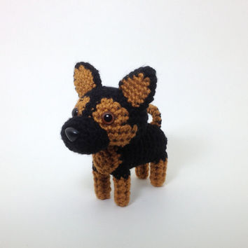 German Shepherd Stuffed Animal Amigurumi Dog Crochet by Inugurumi