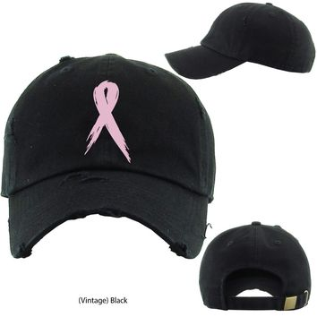 Cancer awareness ribbon Adjustable Baseball Cap