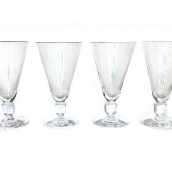 Kosta Boda Kuba Wine Glasses, Swedish Cube Design, Elis Bergh