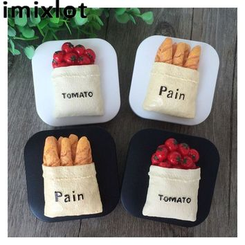 IMIXLOT Travel Glasses Contact Lenses Box Contact lens Case for Eyes Care Kit Holder Container Gift Bread Tomato Pattern