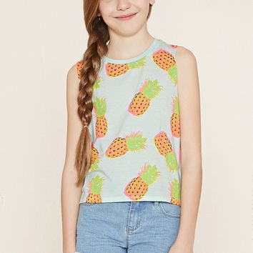 Girls Pineapple Tank (Kids)