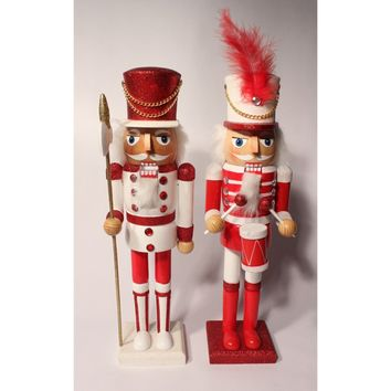"""15"""" Peppermint Candy Nutcrackers"""