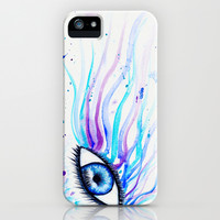 Iridescent Eye iPhone & iPod Case by Susaleena