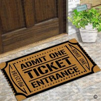 Autumn Fall welcome door mat doormat  Entrance Floor Mat Funny  Admit One Ticket Entrance Non-slip  Machine Washable AT_76_7