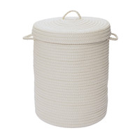 Simply Home Solid White 16x16x24, Laundry Hampers