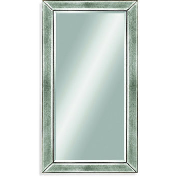 "Bassett Mirror Beaded Wall Mirror Silver Leaf 36"" x 48"" - M1946BEC"
