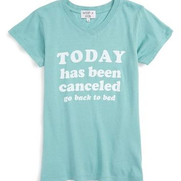 Wildfox 'Today Has Been Canceled' Graphic Tee (Little Girls & Big Girls) | Nordstrom