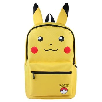 Lot Anime Pocket Monster Backpack Cosplay Pikachu Eevee Umbreon Canvas School Bags Satchel Rucksack Laptop Bags for teenagers