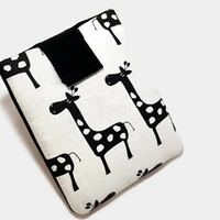 "Hand Crafted Tablet Case from Giraffe  Fabric/ Tablet Case For  Kindle Fire HD 7"" ,i Pad Mini,Nook HD 7, Samsung Galaxy 7"